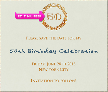 Square Beige Birthday Save the Date Template with Customizable text ...