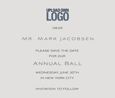 Corporate save the date card designs