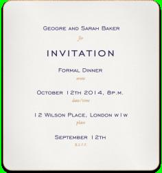 script corporate formal gala event 5x7 paper invitation card ...
