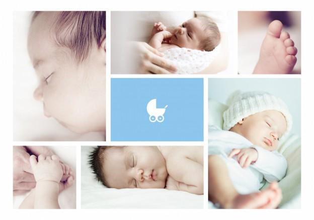 Geburtsanzeigekarte