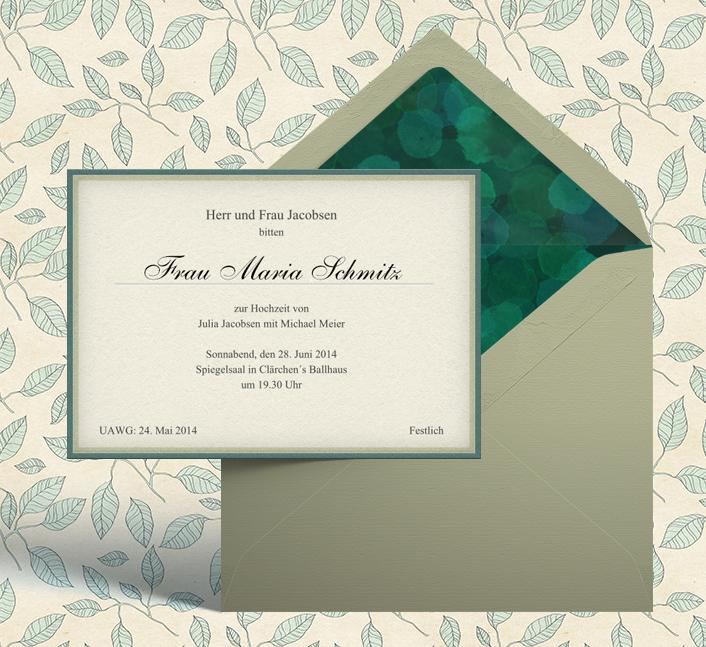 Online und Papiereinladung zur Hochzeit