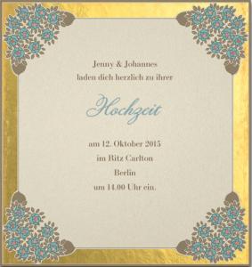 Besondere Hochzeitseinladung für Was ist Ihr Hochzeitsstil.