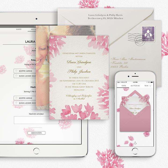 Toll Hochzeitseinladung Online Oder Papier