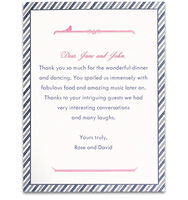 Wedding card design Online with Blue Striped border and Pink and blue text.