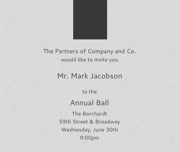 Light Grey Corporate E-Invitation with Dark Logo, perfect for Company Events with Guest Management
