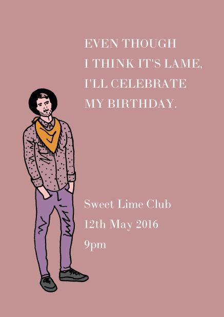 hipster cowboy birthday invitations