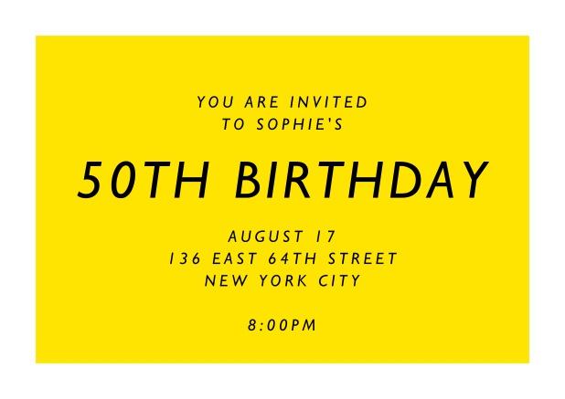 50th birthday online invitations