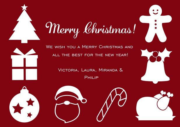 Weinachtliche Figuren - Weihnachtskarten Geschäftlich