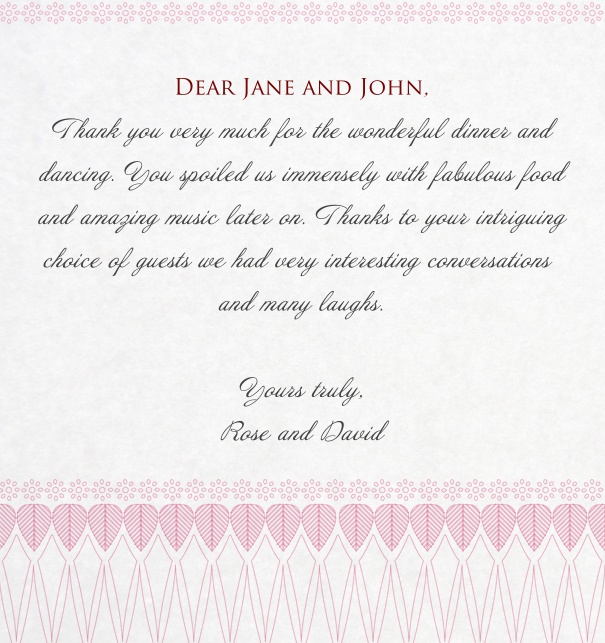 Pink Wedding Card designed by Bell'Invito.