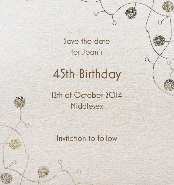 Pepin Press Save the Date high with Art-Deco Corner Border.
