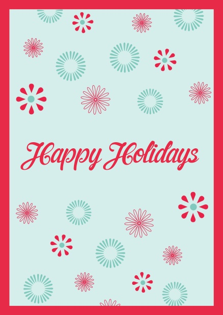 Online Christmas card with Happy Holiday customizable text.