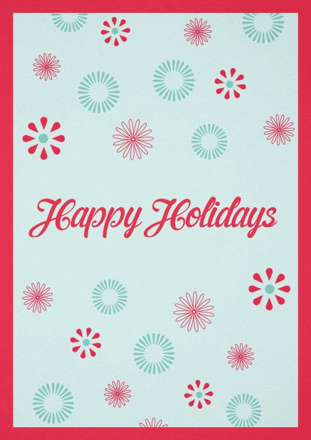 Christmas card with Happy Holiday customizable text.