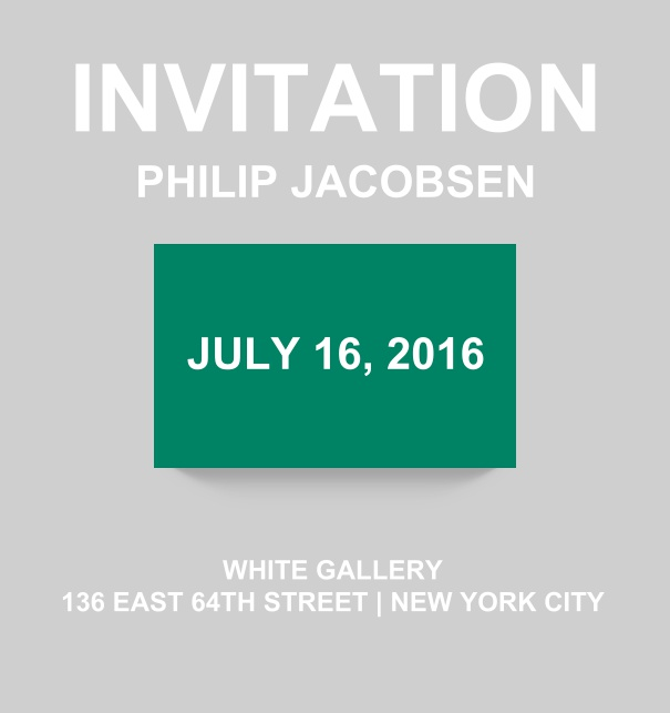 Corporate online invitation card with modern look and color emphasized box. Green.