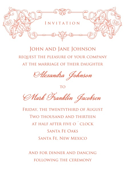 Wedding Invitations Online.Majestic Invitation