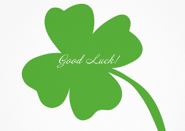 Wish good luck with this wonderful card with a green clover.