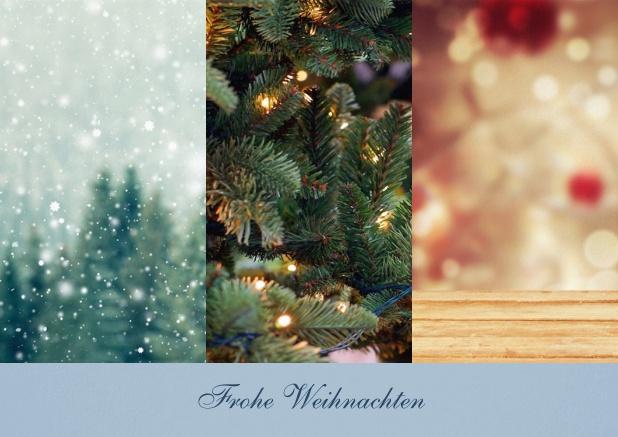 drei foto spalten mit text weihnachtskarten gesch ftlich. Black Bedroom Furniture Sets. Home Design Ideas