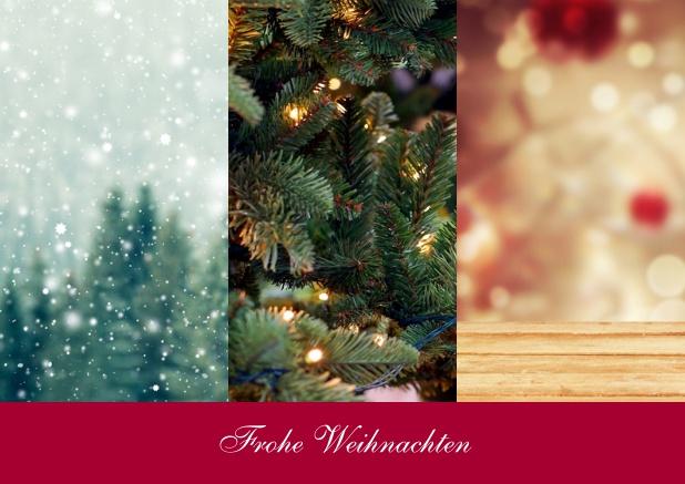 Geschäftliche Weihnachtskarten Text.Drei Foto Spalten Mit Text