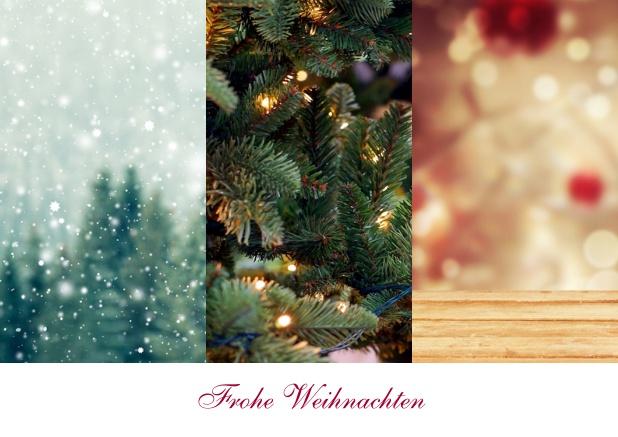 Drei foto spalten mit text weihnachtskarten gesch ftlich for Weihnachtskarte foto online