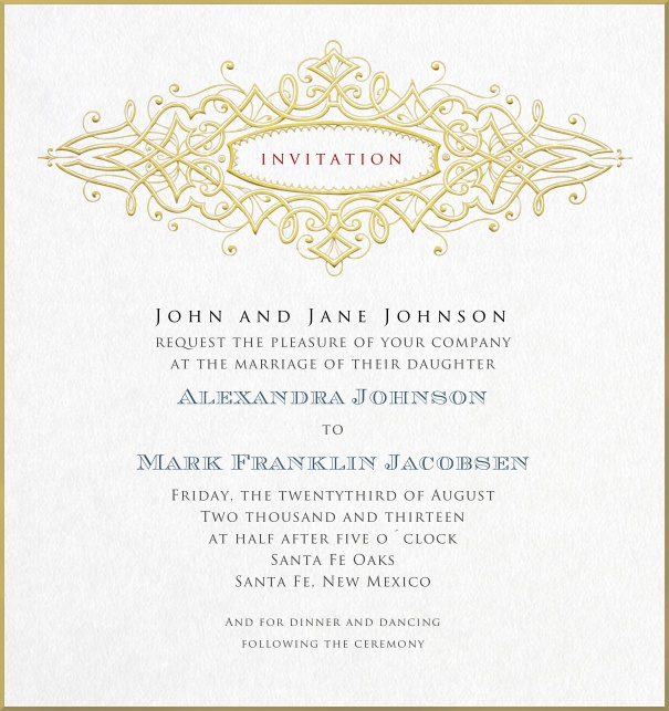 Formal Online Invitation card for weddings and precious birthday invitations.