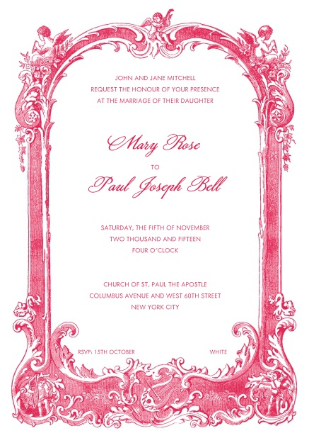 Online Wedding invitation card with extravagant deco
