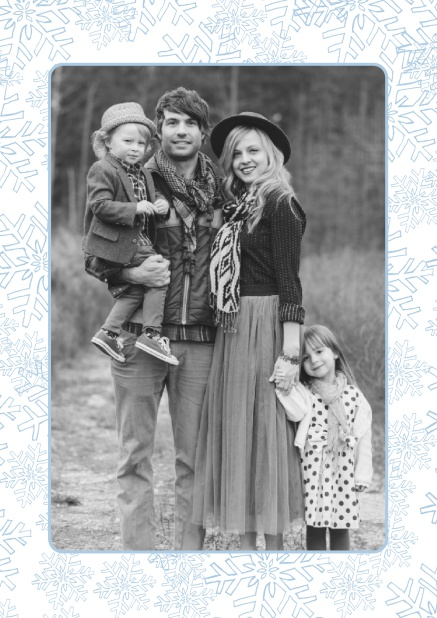 Foto mit schnee weihnachtskarten for Weihnachtskarte foto online