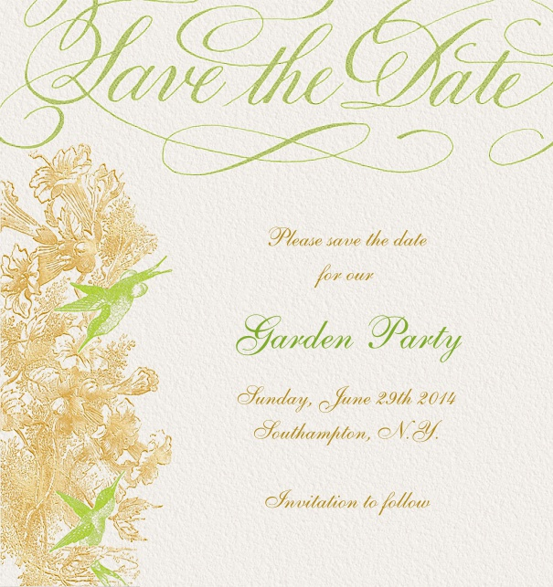 hummingbirds wedding save the dates