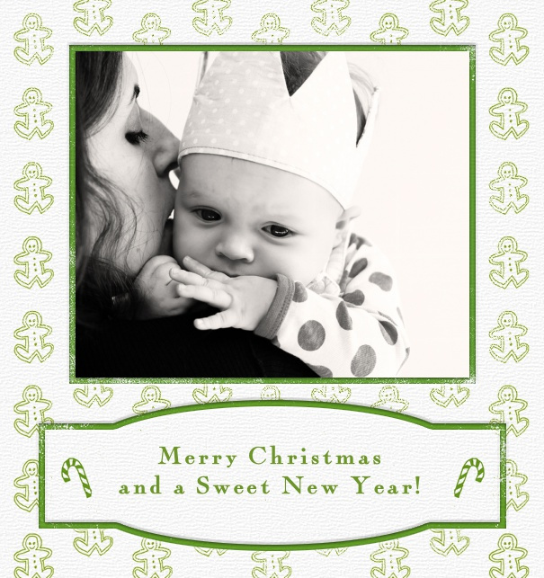 Christmas Card Online with Photo and Baby Border.