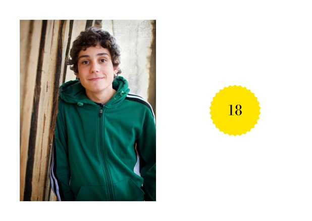 Online 18th birthday invitation card with photo and small round text field with editable number. Yellow.