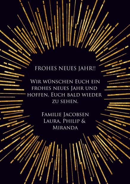 neujahrswünsche karte Goldenes Feuerwerk 2018   Neujahrswünsche