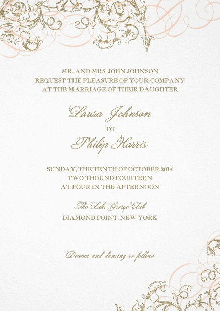 Wedding invitation Card design with flower decoration