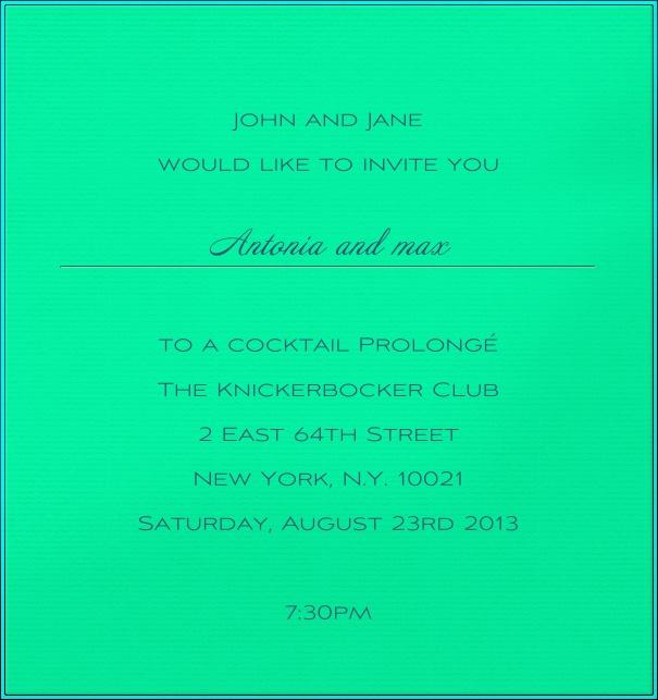 James bond 007 neon james bond 007 neon vertical green neon invitation card with blue border stopboris Choice Image