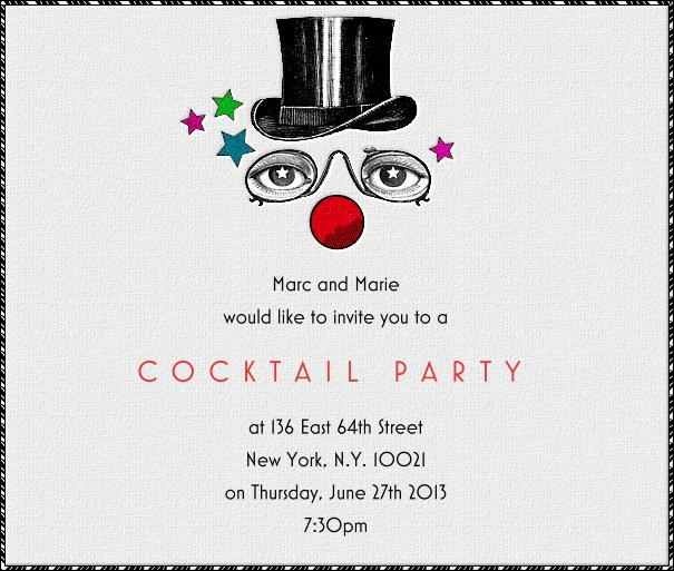 Square Gatsby Party Themed invitation Design with Black Border and figure.