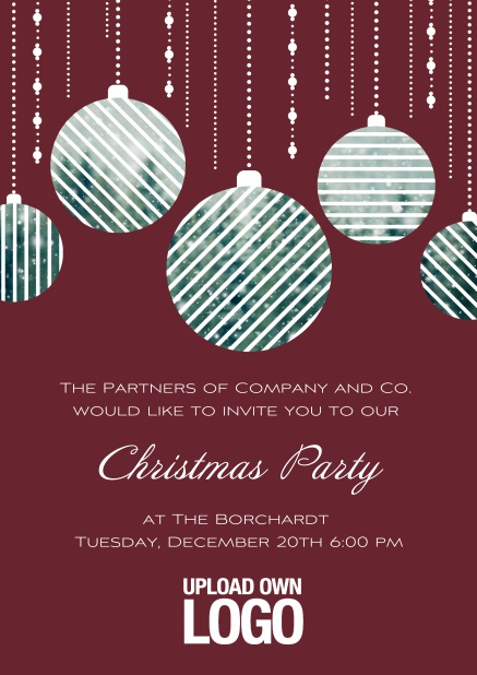 work christmas party invites