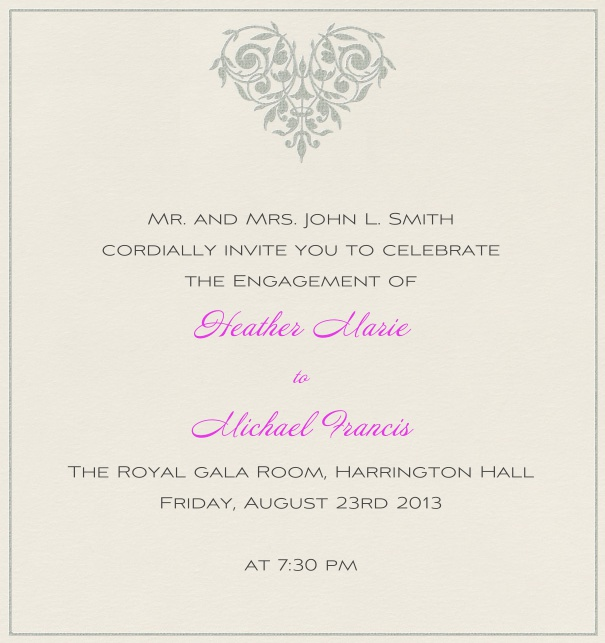 Heart Shaped Rose - Wedding invitation cards