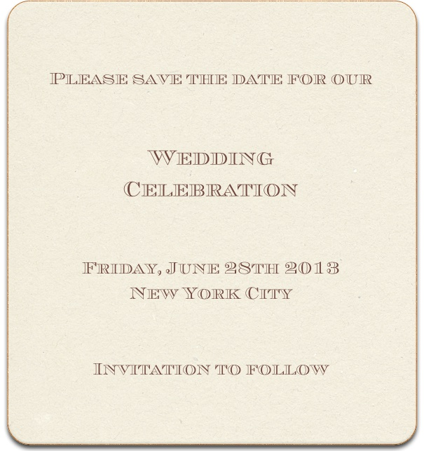 Monpellier muse classic invitation cards tan formal wedding anniversary save the date card with custom name and gold border stopboris Gallery