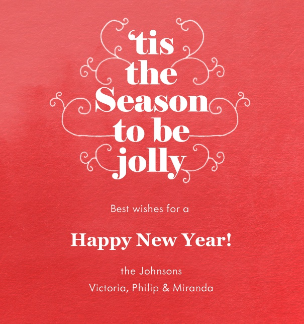 Online Season's Greetings Cards with red background.