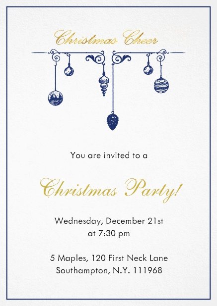 xmas deco christmas party invitations