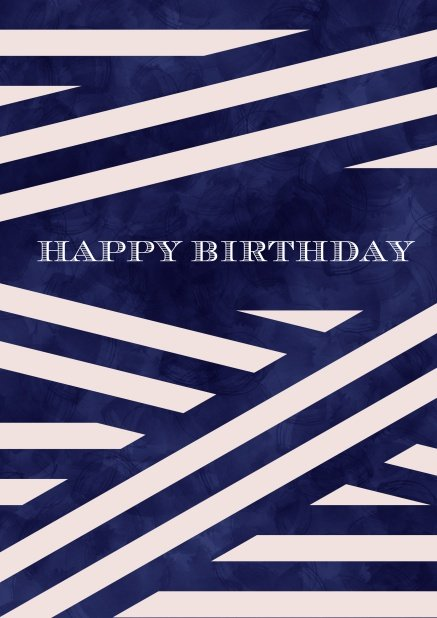 Online Corporate Birthday Greeting Card With Fine Blue And White Ribbons Pink