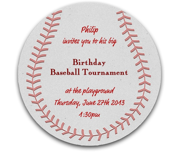 Baseball match baseball round baseball sports invitation template invitation template designed as a baseball stopboris Choice Image
