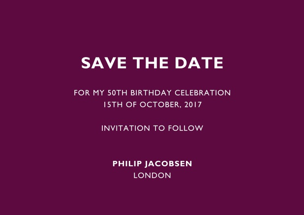 50th birthday online invitations