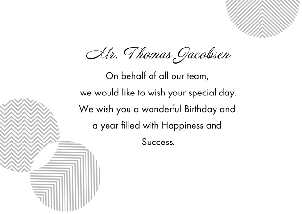 Riga wishes birthday greetings corporate customize this black happy birthday card with your photo and logo and edit the text send manually or schedule your sending so your personal greetings are bookmarktalkfo Choice Image
