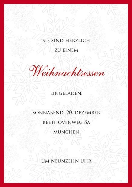 Text Weihnachtsfeier Einladung Geschäftlich.Eingerahmtes Eisglas
