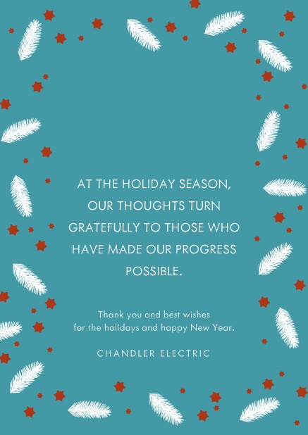 Corporate Christmas Cards.Featherlight Stars