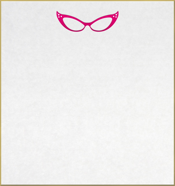 Picnic or Cocktail Save the Date Card with pink glasses in 20s style.