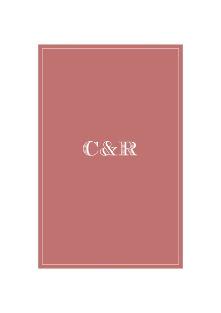 Online Classic Wedding invitation card with beautifully placed text field in various colors. Pink.