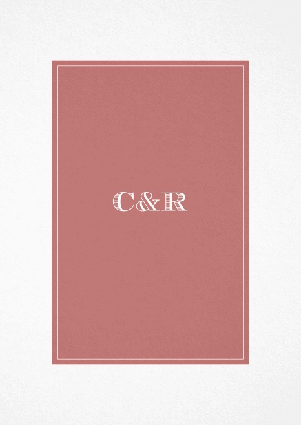 Classic Wedding invitation card with beautifully placed text field in various colors. Pink.