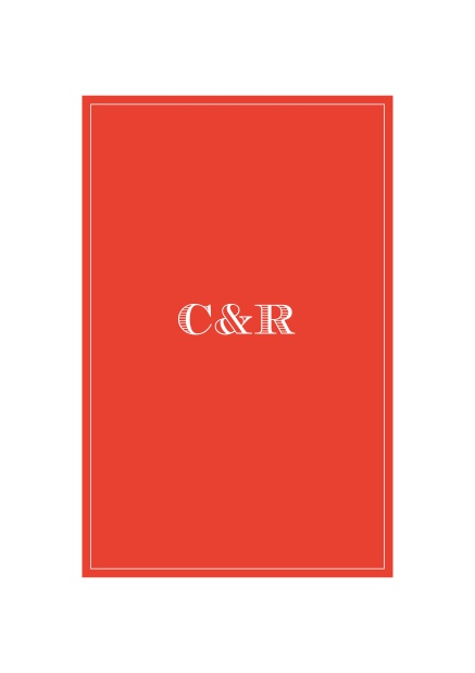 Online Classic Wedding invitation card with beautifully placed text field in various colors. Red.