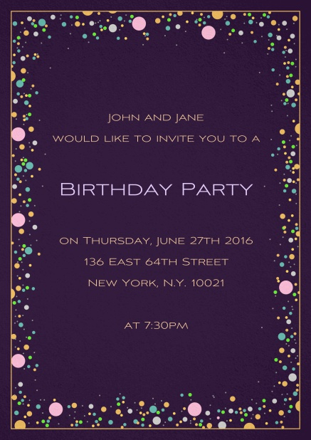 Birthday bubbles birthday invitations 50 birthday invitation card with colorful bubbles on customizable paper color and editable text filmwisefo