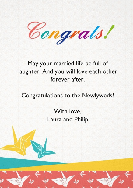 Say congratulations with this colorful Online congrats card.