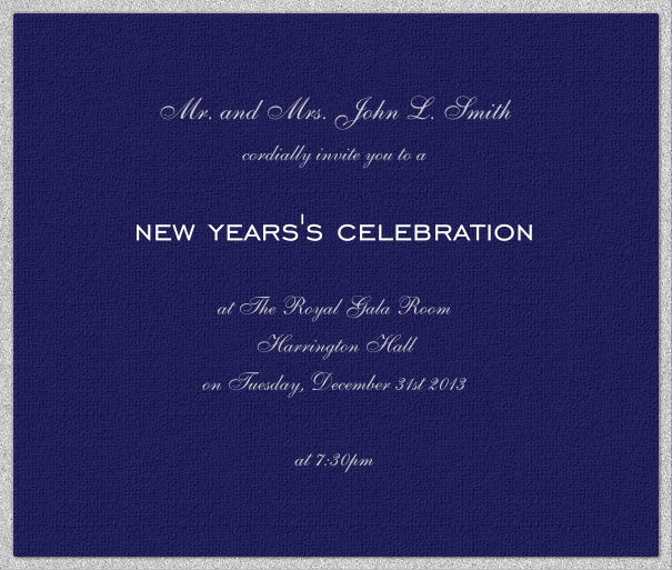 Square Dark Blue Party Invitation Template Online with Customizable design.
